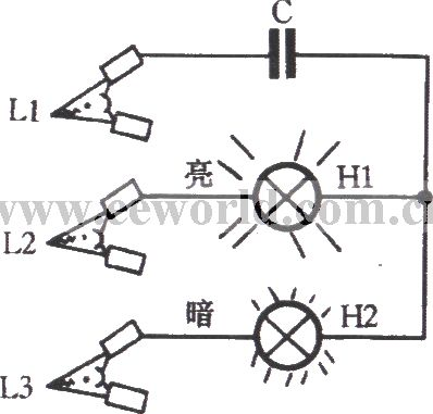 index 15 led and light circuit circuit diagram seekic comphase sequence indicator circuit using incandescent and capacitor