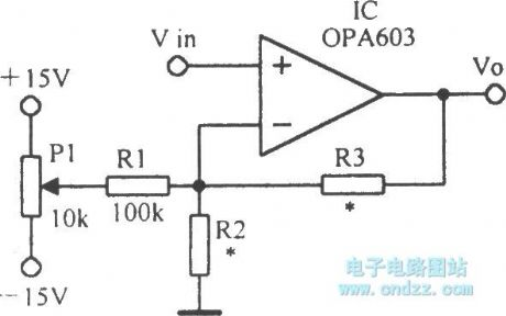 High-speed current feedback operational amplifier circuit OPA603