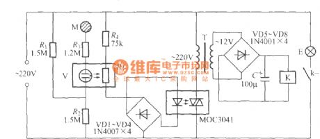 One-key touching light switch circuit (5 )