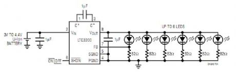Low Noise White LED Driver with LED Current Control