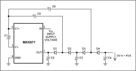 Triple Capacitive Voltage Inverter with the MAX871