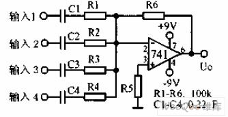 Audio mixer amplifier circuit diagram