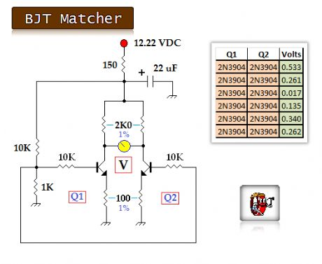 BJT and Diode Matching