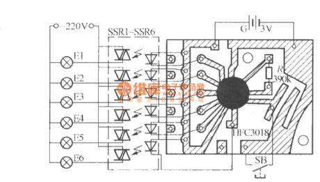 Six-way blinking light string circuit ( 1 ) ( HFC3018 )