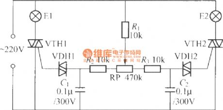 Thyristor double-tone dimmer circuit (2)