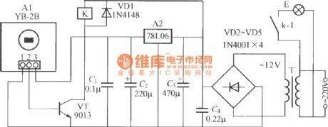 Thermal pyroelectric infrared sensing automatic light circuit (10)