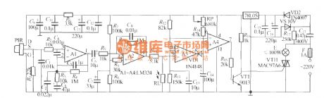 Thermal pyroelectric infrared sensing automatic light circuit (1)