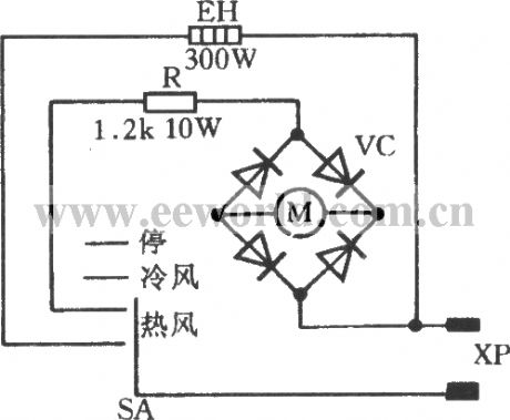 Hair dryer circuit