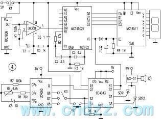 Wireless responder circuit with transceiver and codecs module