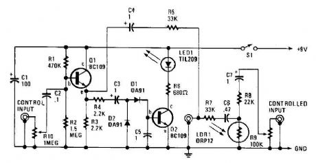 Automatic audio fader circuit