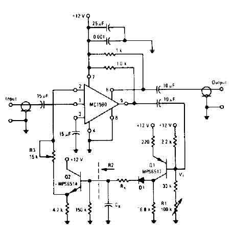Audio Compressor Circuit Diagram | Audio Compressor Circuit Audio Circuit Circuit Diagram Seekic Com
