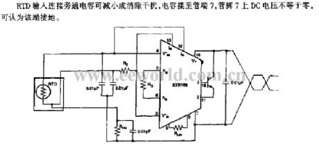 Temperature sensor transmitter circuit