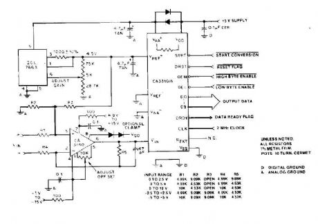 Differential A/D Converter circuit CA3110