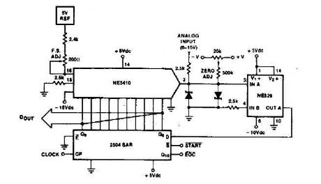 Simple A/D converter circuit with 2504