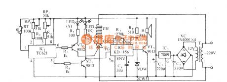 Thermostatical electric radiator circuit using TC621