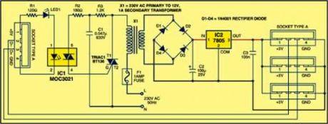 USB Power Booster - Amplifier_Circuit - Circuit Diagram ...