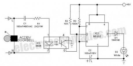 Electronic Doorbell Light Schematic
