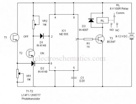 Light Controlled Bistable circuit