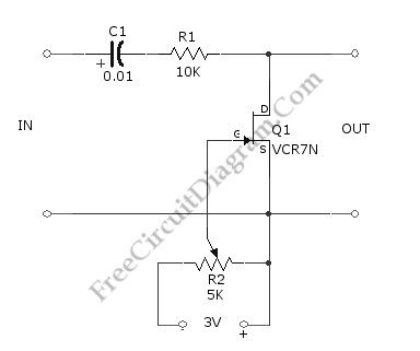 Voltage-Controlled Attenuator (Volume Control) Using FET
