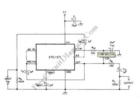 Compressor Circuit with 570/571 Compandor IC