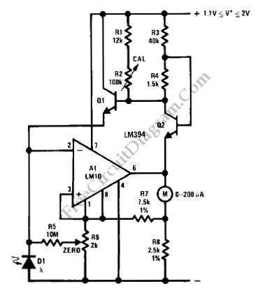 index 22 measuring and test circuit circuit diagram seekic comlogarithmic light intensity meter for photography