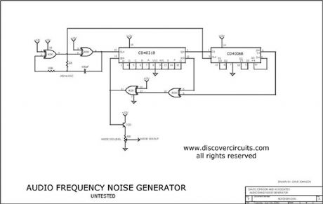 AUDIO FREQUENCY DIGITAL NOISE GENERATOR