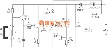Gated automatic lamp circuit ( 1)