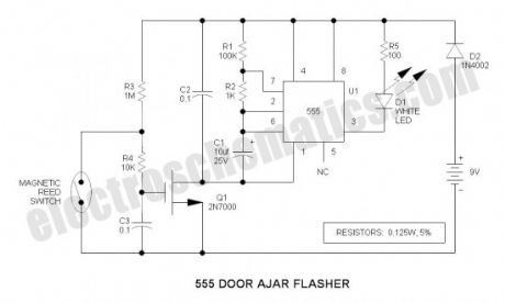 555 Door Ajar Flasher
