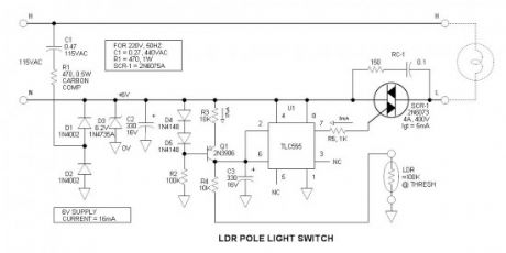 LDR Pole Light Switch