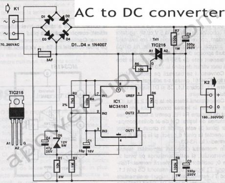 AC to DC Voltage Converter Circuit