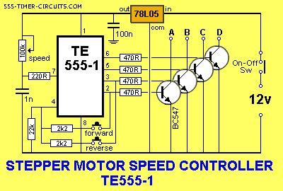 Stepper Motor Control Circuit Diagram | Stepper Motor Controller Circuit Control Circuit Circuit Diagram