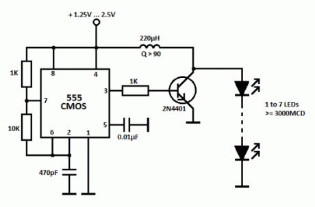 LED Driver with 555 Timers