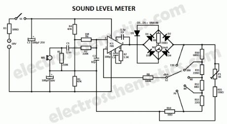 Sound Level Meter Circuits