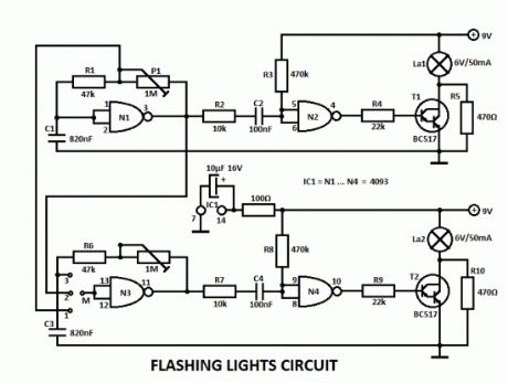 Flashing Lights Circuits