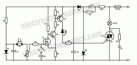 220V Automatic Light Switch Circuit