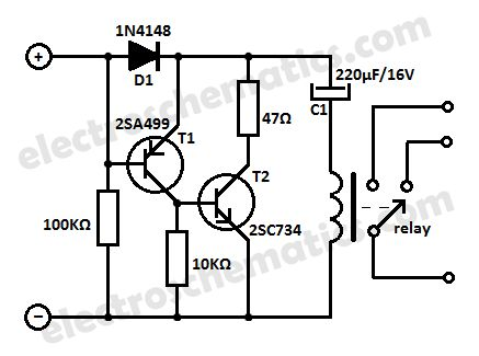 Low Current Relay Circuit