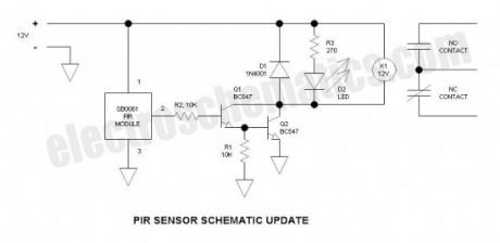 Security Light & Switch with PIR Sensor Update Circuit