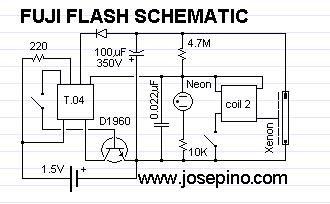 the schematic of the Flash circuit