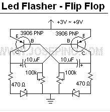 LED Flasher Circuit - Flip Flop