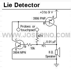 Circuit Diagram Of Lie Detector | Index 10 Measuring And Test Circuit Circuit Diagram Seekic Com