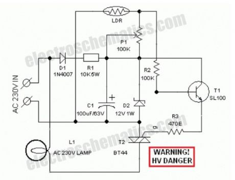 Automatic Lawn Light with LDR Circuit