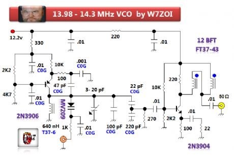 13.98 to 14.3 MHz VCO