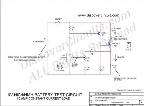 6V NiCd/NMH Battery Test Hobby Circuit