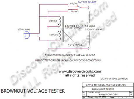 Brownout Voltage Testers