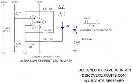 Ultra Low Power LED Flasher