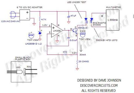 White LED Life Tester Schematic
