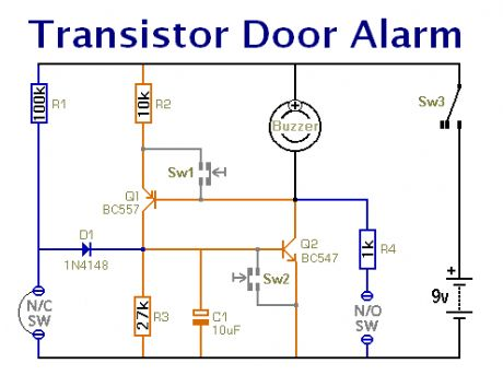 Simple Door Alarm Circuit Diagram - DIY Enthusiasts Wiring Diagrams •