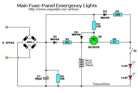 main fuse-panel emergency lights