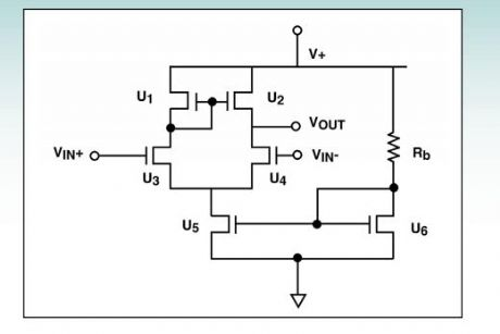 0.1V differential amplifier