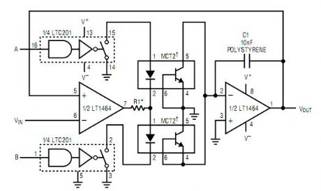 Low Droop Track-and-Hold/Peak Detector Circuit
